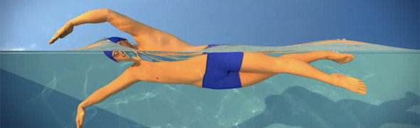 técnica de natación