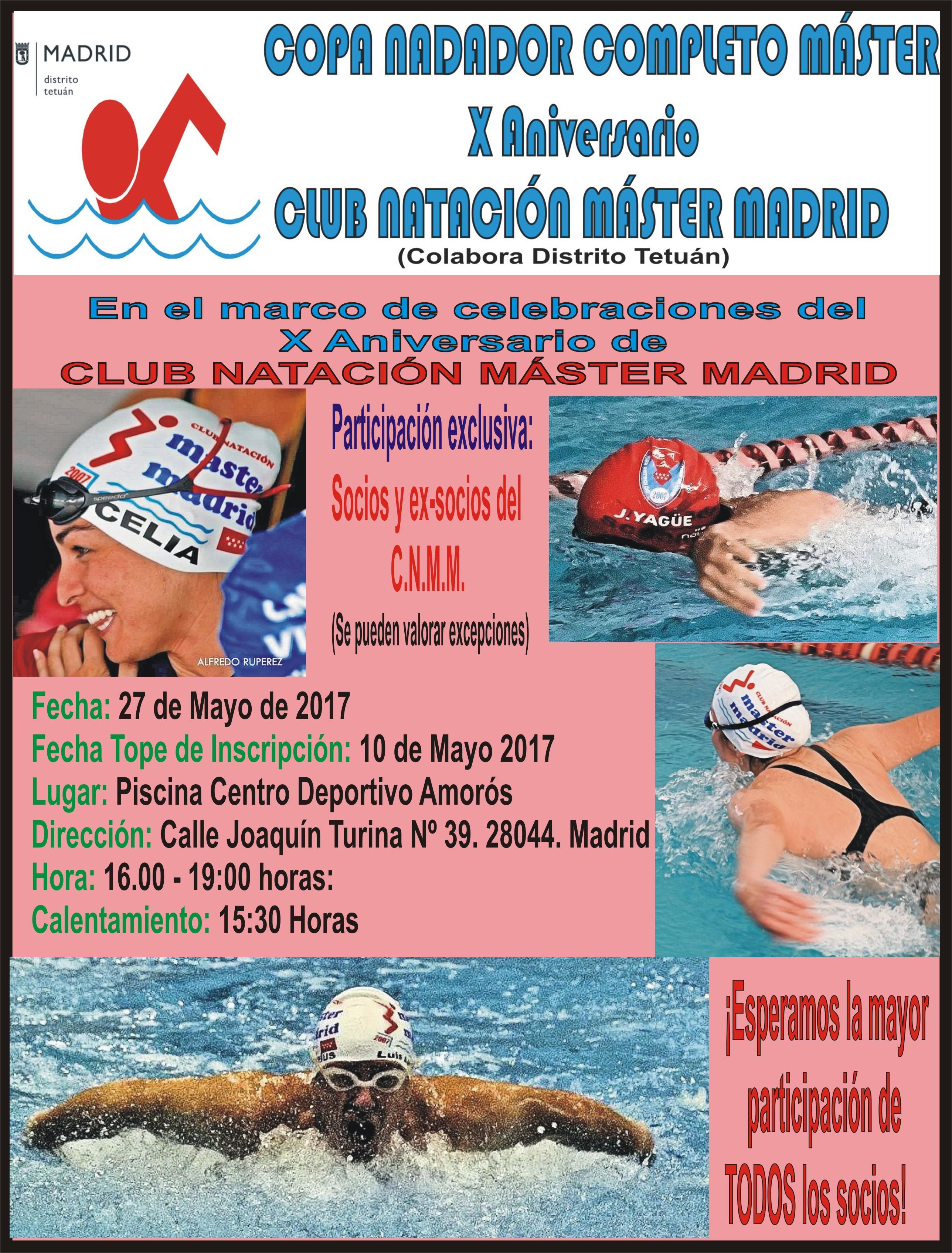 Cartel Copa Nadador Completo CNMM
