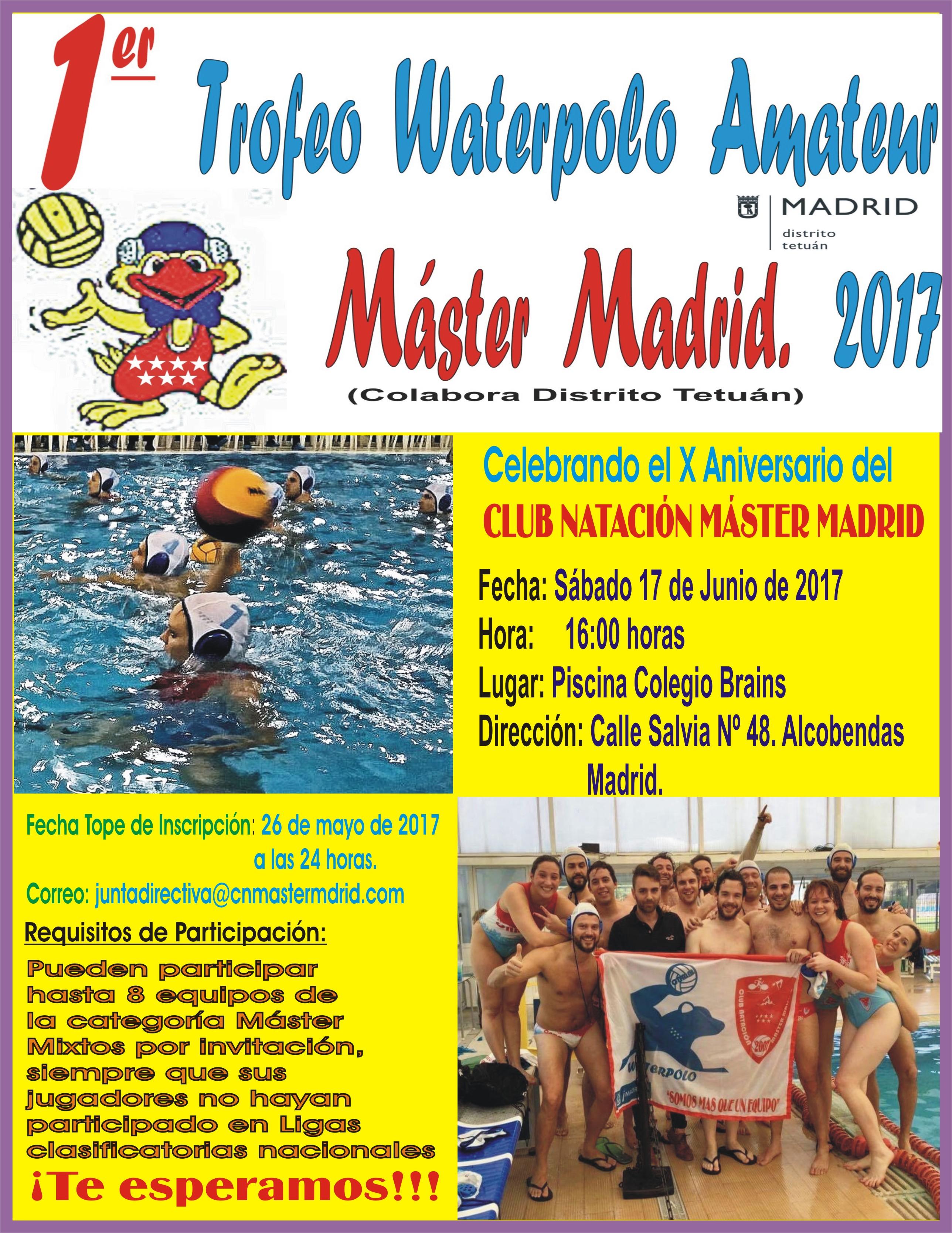 Cartel Trofeo de WP CNMM